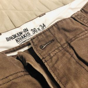 Mens Old Navy Brown Khakis